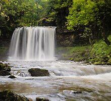 Sgwd Yr Eira Waterfall, Vale of Neath. UK by Heidi Stewart