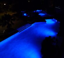 Blue Pool at Night. by FangFeatures