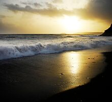 Seaton beach cornwall in late afternoon by stevieuk