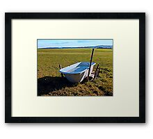 Outdoor pool | conceptual photography Framed Print