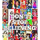 Glee-Don't Stop Believing Collage by lyricsbykailynn