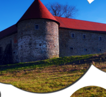 Pathway to Piberstein castle   architectural photography Sticker