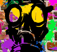 Gasmask on Wall Sticker