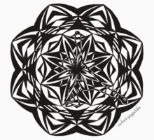 triangle pose mandala by yogadala