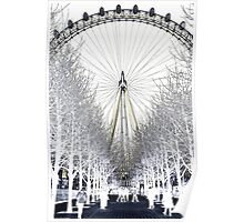 London Eye on a winters day Poster