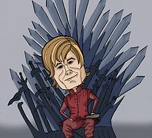 tyrion on the iron throne by rimjet