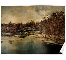 Sturgeon Pool Dam Rifton NY  Poster