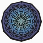 toe stand mandala sticker by yogadala