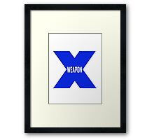 Weapon X Framed Print