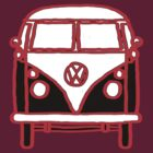 Graphic Splittie Campervan by Ra12
