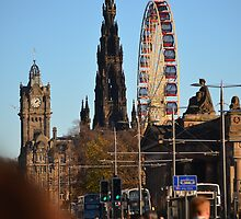 Big wheel in Edinburgh by Pete Johnston
