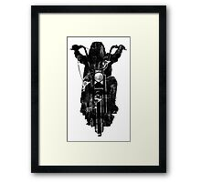 Chopper Motorcycle T Shirt  Framed Print