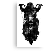 Chopper Motorcycle T Shirt  Canvas Print