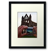 A Picture of a Picture. Framed Print