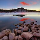 Last Light- Goldwater Lake by Bob Larson