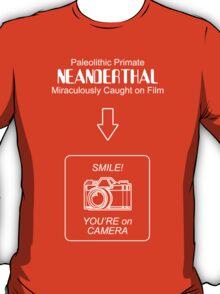 Neanderthal Caught on Film T-Shirt