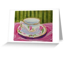 Afternoon Tea Time Greeting Card