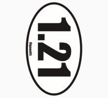 1.21 Gigawatts - European Style Oval Country Code Sticker by fohkat