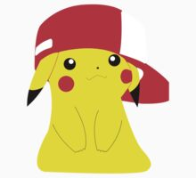 Cute Pikachu with Ash's Hat by SwankyOctopus