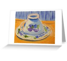 Yellow afternoon tea Greeting Card
