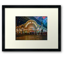 The Two Faces of the Golden Nugget Framed Print