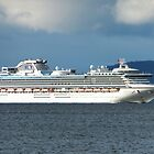 Diamond Princess plies the Derwent River, Hobart, Tasmania by PC1134