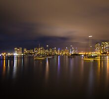 Surfers Paradise Skyline by Night by Victoria Nelson