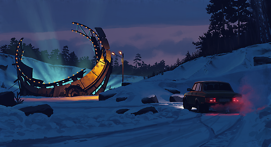 December Salvage by Simon Stålenhag