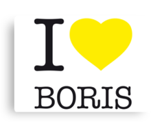 I ♥ BORIS Canvas Print