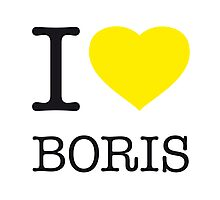 I ♥ BORIS Photographic Print