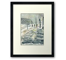 Winter Evening, Crossing Thistle Street Framed Print