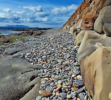 Pebbles on Troon Beach by Escocia Photography