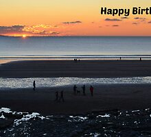 Southerndown Birthday Card by Paula J James