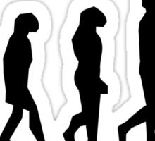 Dog Walking Evolution Sticker