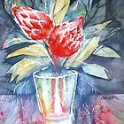 protea in a vase by Claudia Dingle