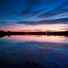 Dawn  at Warren Lake, Hengistbury Head by delros