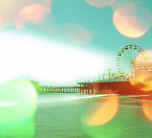 Santa Monica Pier Green Orange by stine1