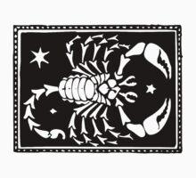 Scorpio Scorpion woodcut by Pixelchicken