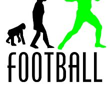 Football Quarterback Evolution (Green) by kwg2200