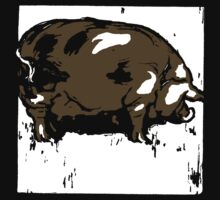 Victorian Woodcut Pig or Hog by Pixelchicken