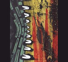 Tribe At Night iPhone case 2 by jon  cooney