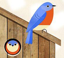 blue bird house by Scott Partridge