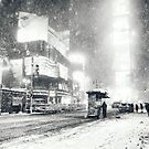 Times Square - Snow - New York City by Vivienne Gucwa