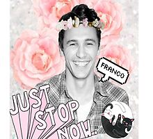 James Franco Flower Crown  by shelbyhall11