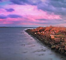 Harbour wall, Newtown by Sterling Creations Photography