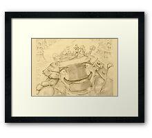 Ankylosaur Sledding Framed Print
