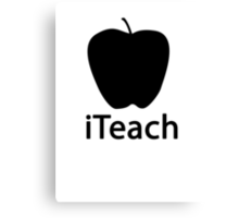 iTEACH black Canvas Print