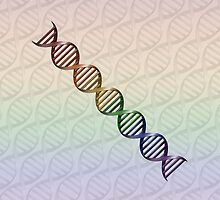 Rainbow DNA - LGBT Pride by LiveLoudGraphic