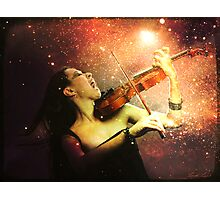 Music explodes in the night Photographic Print
