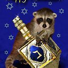 Hanukkah Raccoon by jkartlife